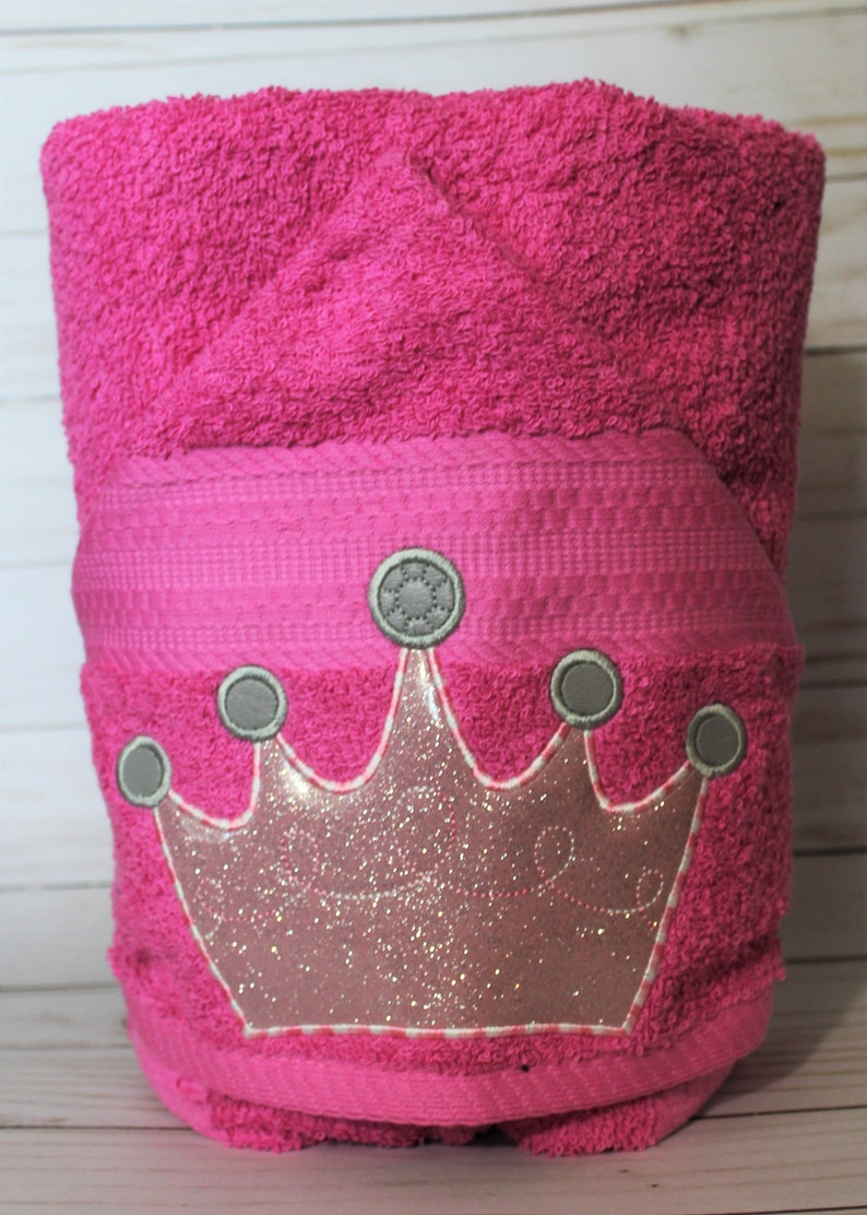 Personalized Sparkly Pink Princess Crown Machine Embroidered image 0