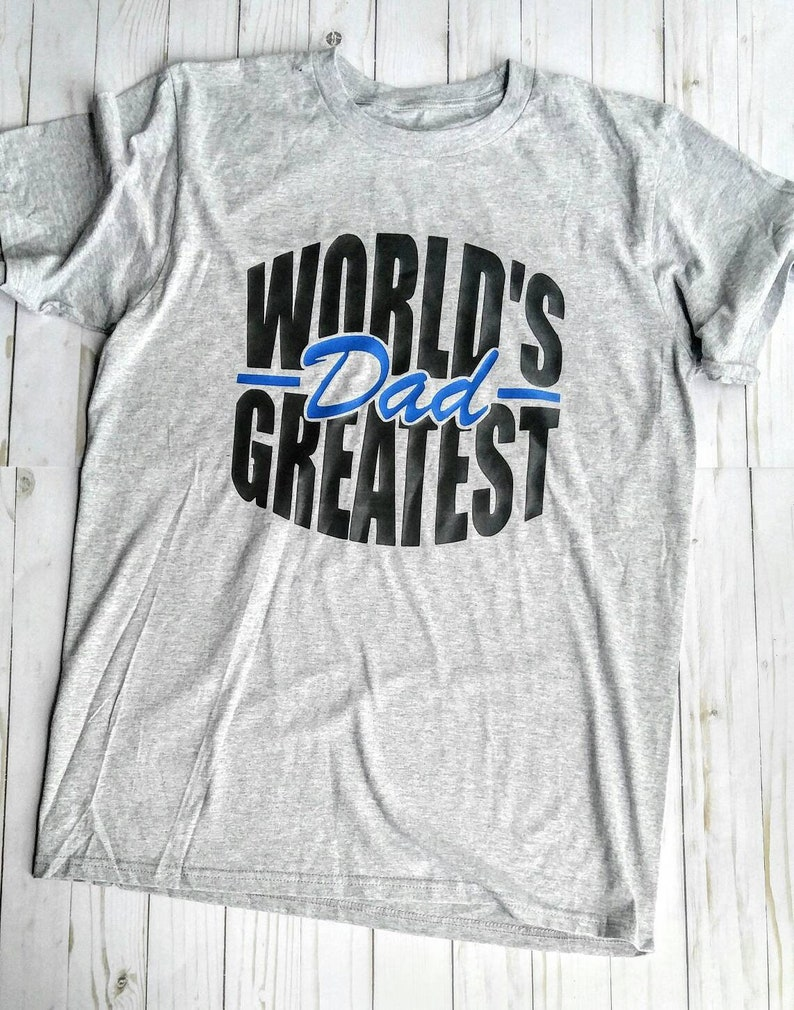 World's Greatest Dad Short Sleeve T-Shirt. Father's image 0