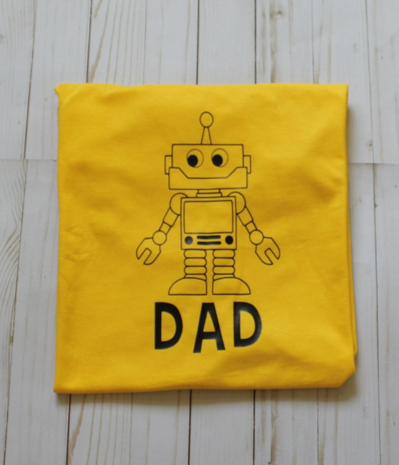 Customizable and Personalized Robot shirt. Robot Theme. Short image 0