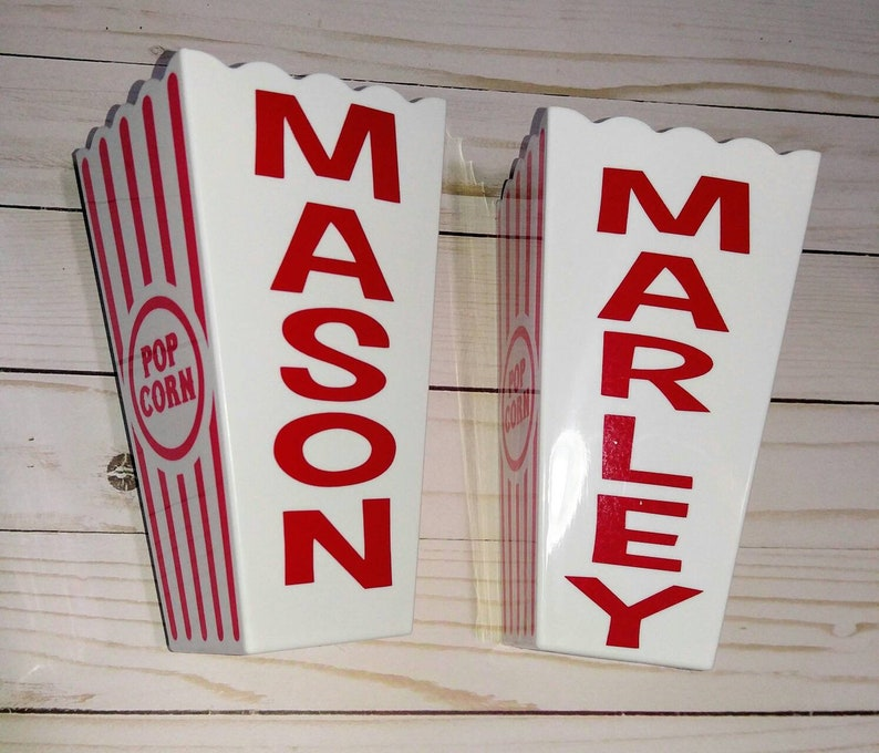 Personalized popcorn buckets. Single serve containers for image 0