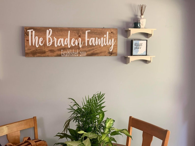 Personalized Large Family Last Name Sign. Wooden Family name image 0