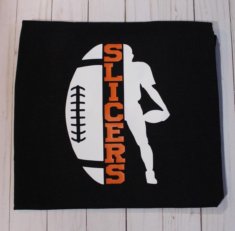 Customizable Football School Mascot Short Sleeve T-Shirt. image 0