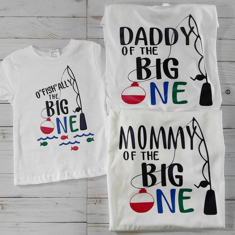 First Birthday matching family shirts. O'fish'ally the image 0