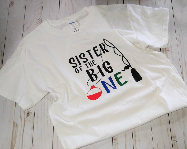 First Birthday shirt. Sister of the Big One child short sleeve image 0