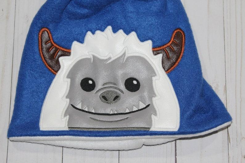 Machine Embroidered Yeti Applique Peeker Fleece Double Layer image 0