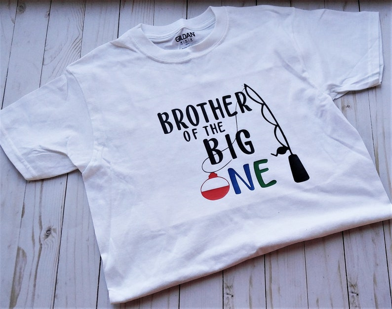 First Birthday shirt. Brother of the Big One child short image 0