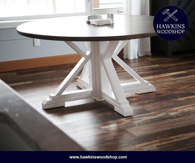 Amazing Round Farmhouse Rustic Dining Table Machost Co Dining Chair Design Ideas Machostcouk