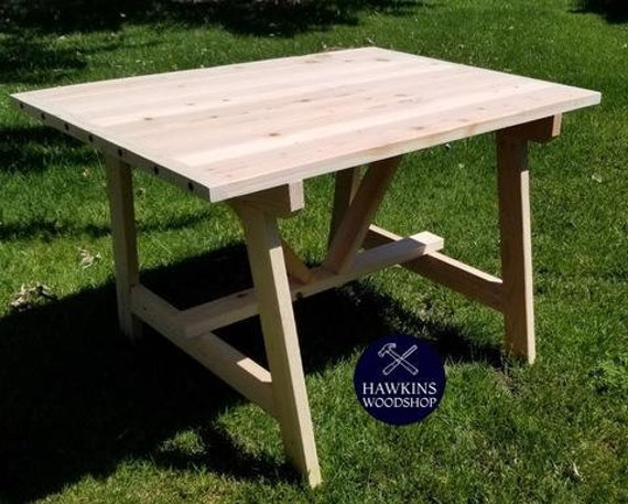 Incredible 2X4 Truss Rustic Farmhouse Dining Table Machost Co Dining Chair Design Ideas Machostcouk