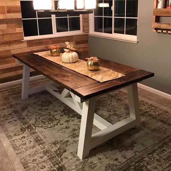 Astounding Truss Beam X Farmhouse Table Machost Co Dining Chair Design Ideas Machostcouk