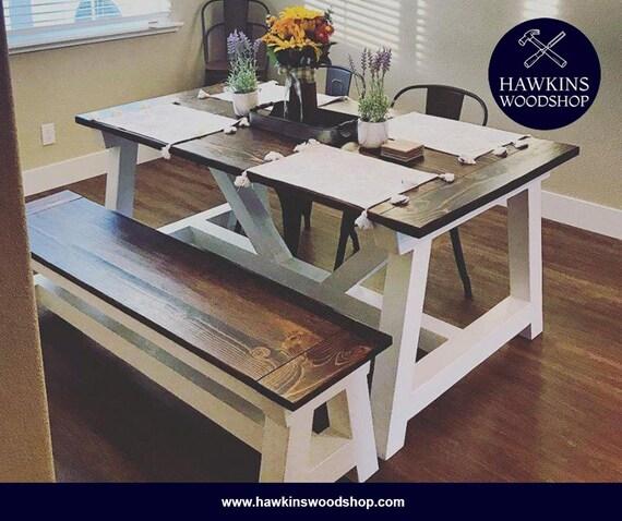 Fabulous Restoration Hardware Inspired 4X4 Truss Beam Rustic Farmhouse Dining Table Machost Co Dining Chair Design Ideas Machostcouk