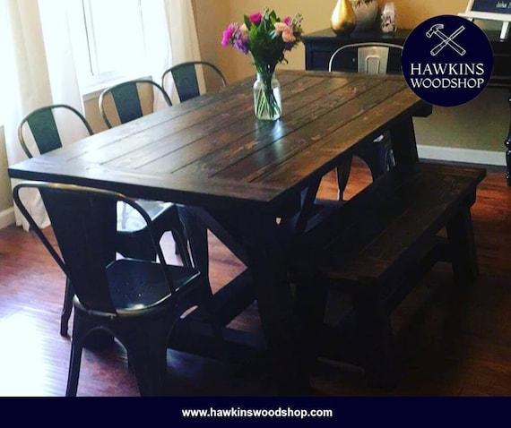 Miraculous Restoration Hardware Inspired 4X4 Truss Beam Rustic Farmhouse Dining Table Machost Co Dining Chair Design Ideas Machostcouk