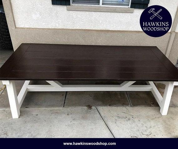 Groovy Restoration Hardware Inspired 4X4 Truss Beam Rustic Farmhouse Dining Table Machost Co Dining Chair Design Ideas Machostcouk