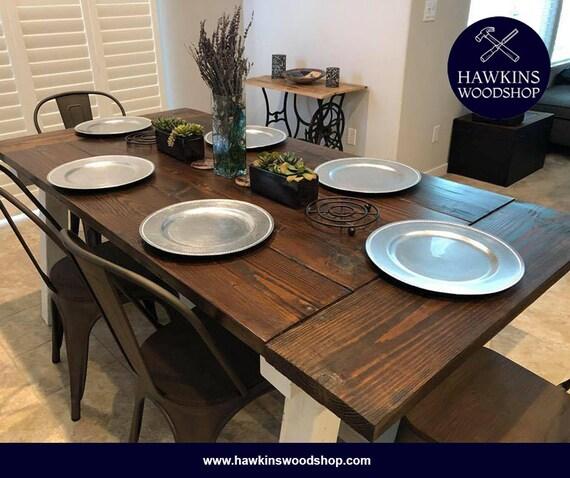 Peachy Restoration Hardware Inspired 4X4 Truss Beam Rustic Farmhouse Dining Table Machost Co Dining Chair Design Ideas Machostcouk