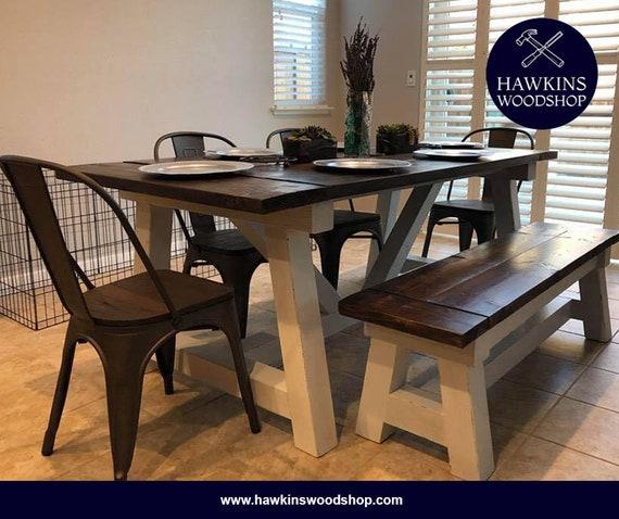 Admirable Restoration Hardware Inspired 4X4 Truss Beam Rustic Farmhouse Dining Table Machost Co Dining Chair Design Ideas Machostcouk