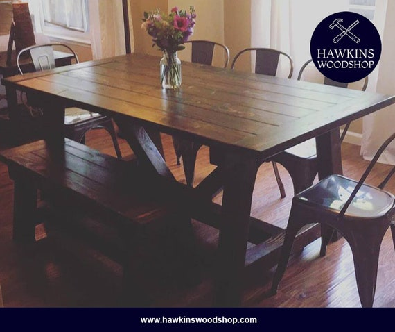 Amazing Restoration Hardware Inspired 4X4 Truss Beam Rustic Farmhouse Dining Table Machost Co Dining Chair Design Ideas Machostcouk