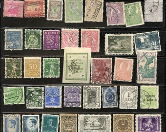 Old Worldwide stamps, WW very old stamps, Old Worldwide stamps, a piece of history for crafting projects