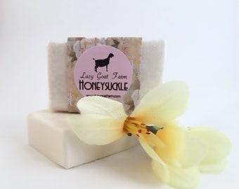 Honeysuckle Goat Milk Soap, All Natural Soap, Handmade Soap, Homemade Soap, Handcrafted Soap