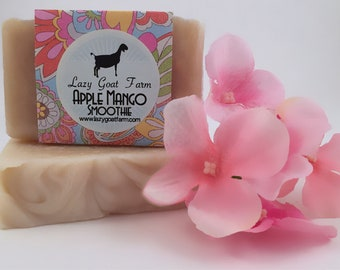 Apple Mango Smoothie Goat Milk Soap, All Natural Soap, Handmade Soap, Homemade Soap, Handcrafted Soap
