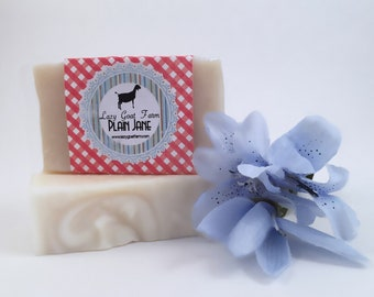 Plain Jane Goat Milk Soap, No Fragrance or Scented Oils, All Natural Soap, Handmade Soap, Handcrafted, Creamy Organic Goat Milk Soap