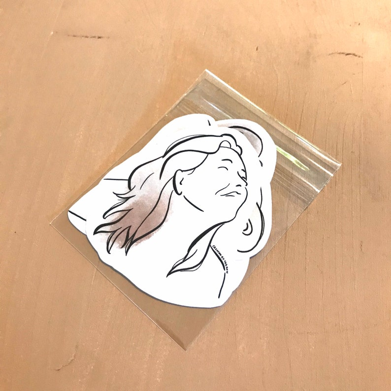 Feminine paper stickers set of 4