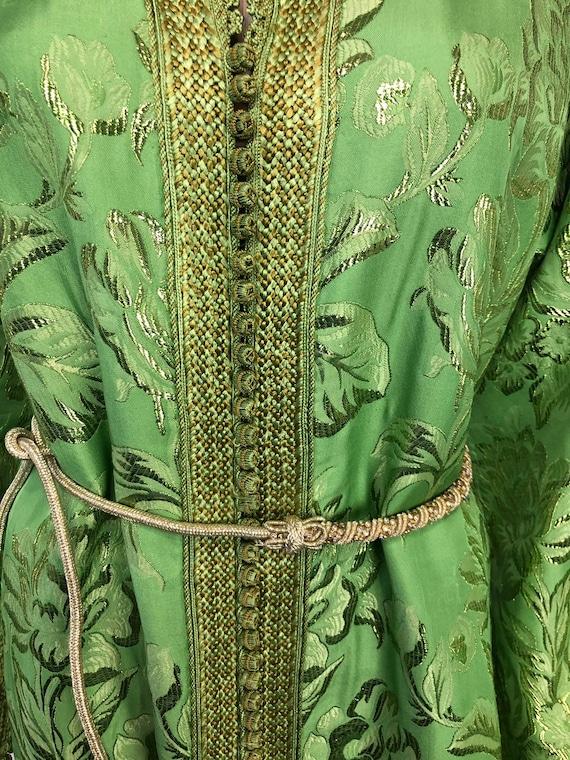 Vintage Green Moroccan Kaftan
