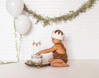 One Cake Topper, 1st Birthday Cake Smash Topper, Burlap cake topper, First Birthday, 1st Cake Topper, Cake Topper, Rustic Banner, Topper