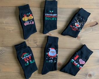 adult novelty festive socks / Christmas footwear