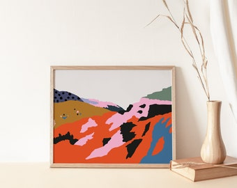 Ethiopian African Hills Abstract Artwork Printable Instant Download Print Yourself