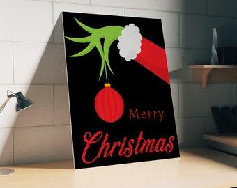 Grinch Christmas Poster The Print Svg Holiday Xmas Dr Seuss Grinchmas Wall Art Kids Room Decor Nursery