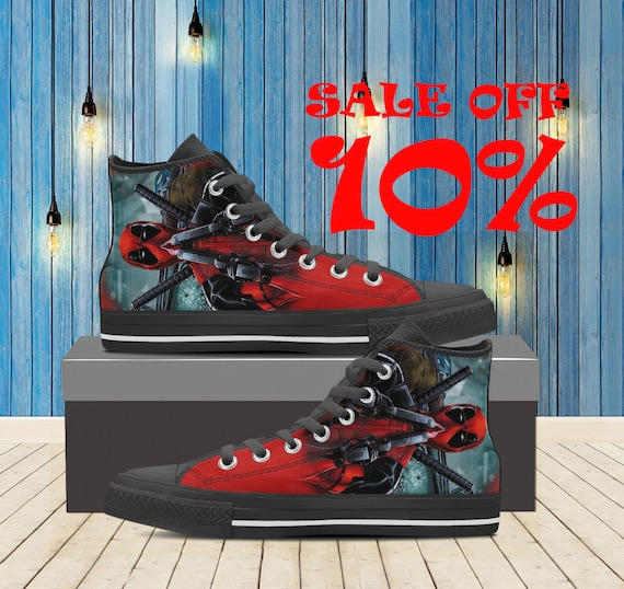 Deadpool De Baskets Chaussures Comics Top Haut q7wfqxg0