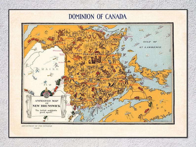 New Brunswick Dominion of Canada Antique North America Maps /& Atlases
