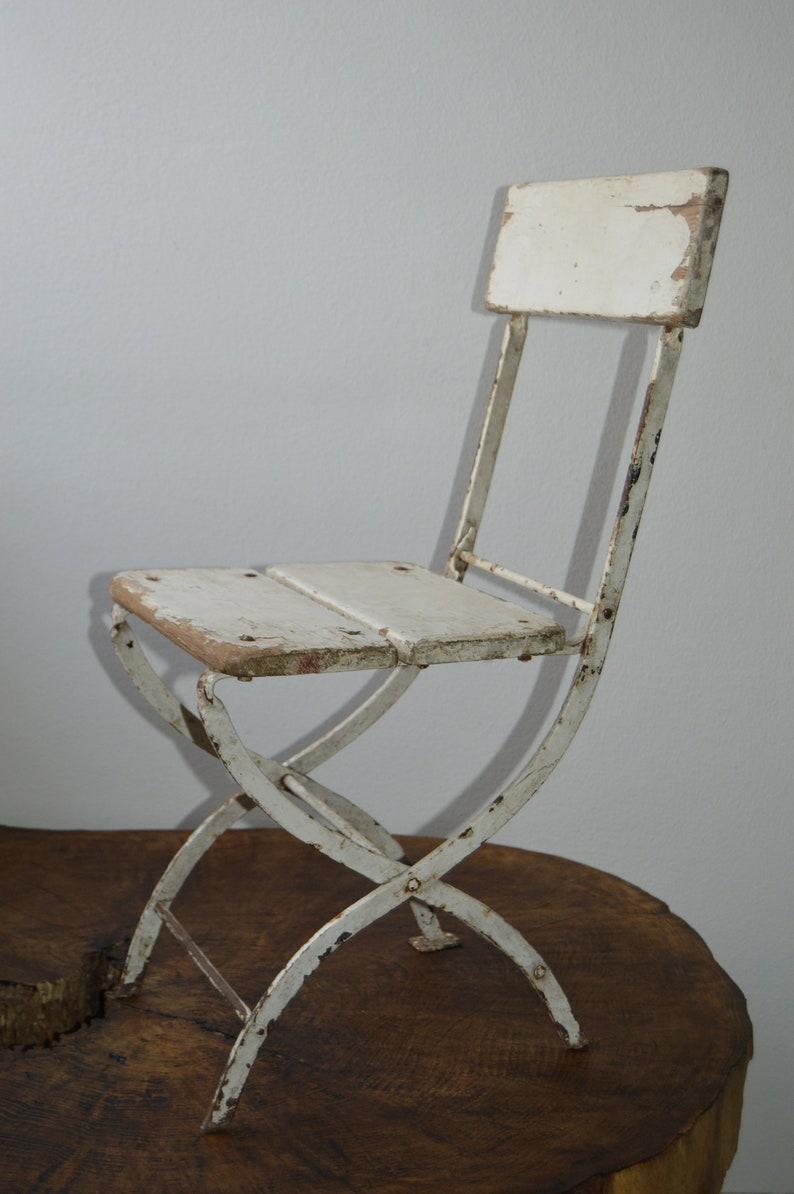Pleasant Vintage Child Kid Chair 1970S With Metal Frame Patio Garden Chair Machost Co Dining Chair Design Ideas Machostcouk