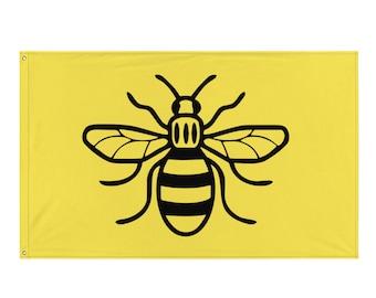 Manchester Bee Flag Worker Bee Honeybee Yellow Flag