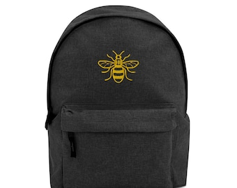 Worker Bee / Honey Bee / Manchester Bee Embroidered Backpack