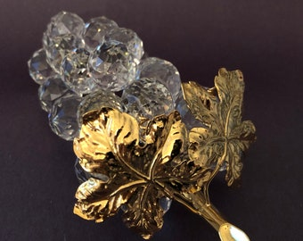 a66936e78a98 Swarovski GRAPES with Gold Leaves and Rhodium Stem 7509 NR 150 070 Crystal  in Box Mint