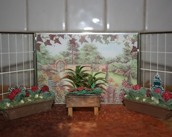Dolls House Conservatory/ Bay Window/ Planters/ Orangerie, Vintage Doll  House Furniture/ Miniatures