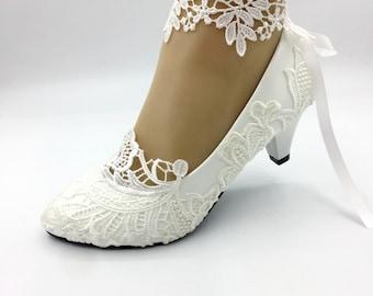 1228d1c17ad Lady Lace flower shoes
