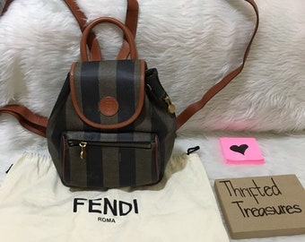01707499be 90 s RARE vintage fendi pequin bag pack