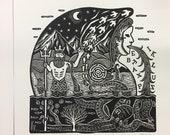 Linoprint Nautilus
