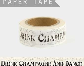 Ribbon east of india all lengths gift wrap TIME TO DRINK CHAMPAGNE AND DANCE