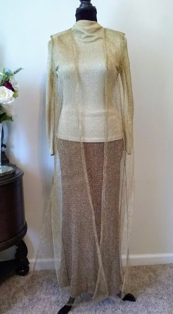 Vintage Dress | 1970s | Nelly de Grab NY | Gold |
