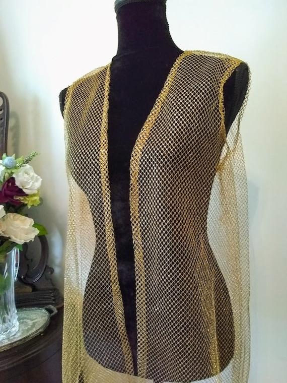 Vintage Dress   1970s   Nelly de Grab NY   Gold  … - image 7
