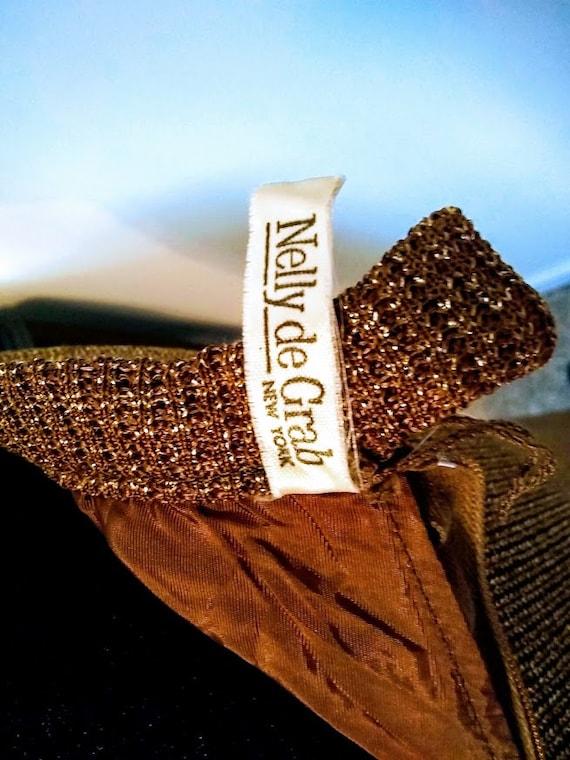 Vintage Dress   1970s   Nelly de Grab NY   Gold  … - image 10