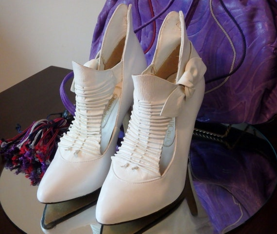 Vintage Shoes | 1980s | Prince | White Leather | A