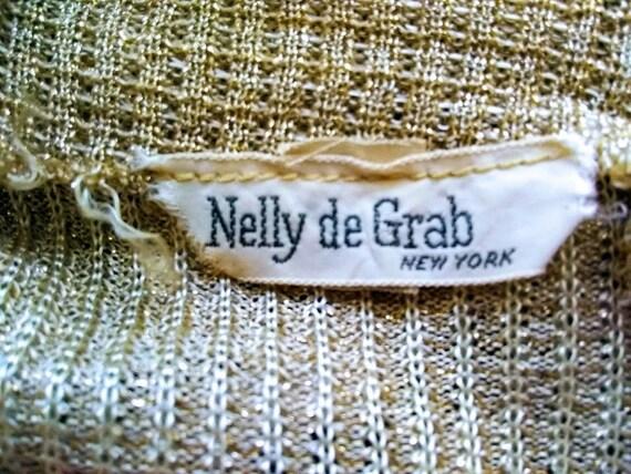 Vintage Dress   1970s   Nelly de Grab NY   Gold  … - image 9