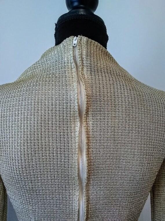 Vintage Dress   1970s   Nelly de Grab NY   Gold  … - image 6