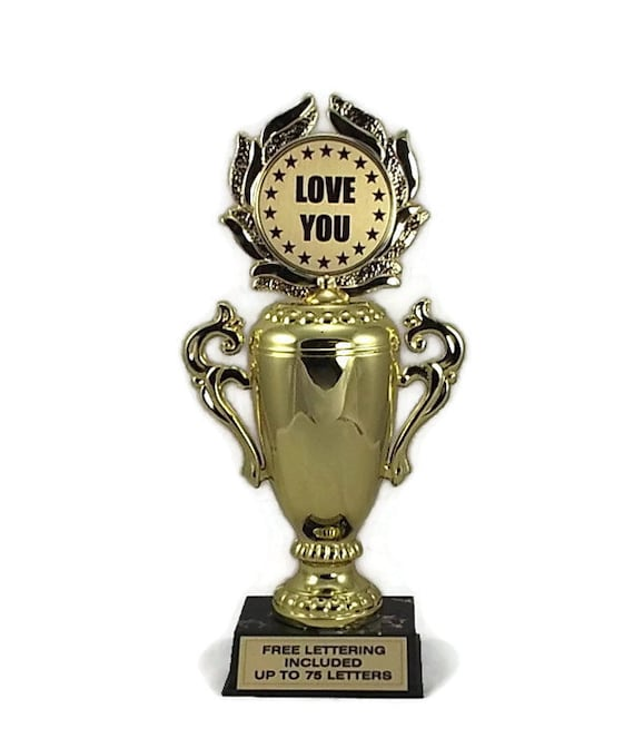 Male Bobblehead Free Lettering Love You Trophy Affection