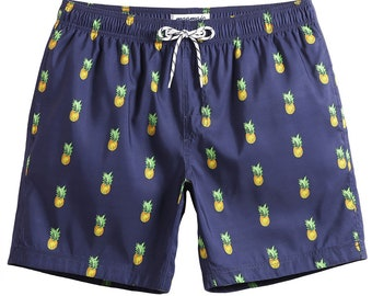 c4fe55fb1f MaaMgic Mens Funny Pineapple Swim Trunks Cool Bathing Suits Slim Fit