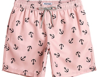 Trum Namii Boys Quick Dry Swim Trunks Exotic Beach Trendy Pink Flamingo Shorts