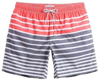 8fd8110344 MaaMgic Men's Striped Swim Trunks Cool Bathing Suits Slim Fit